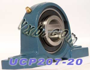 "1 1/4"" inch UCP207-20 Pillow Block Bearing:vxb:Ball Bearing"