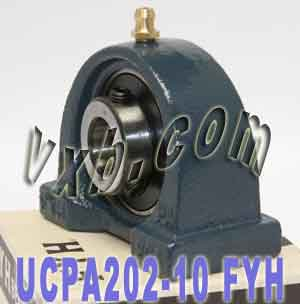 "5/8"" Mounted Bearing UCPA202-10 + Pillow Block Cast Housing:vxb:Ball Bearing"