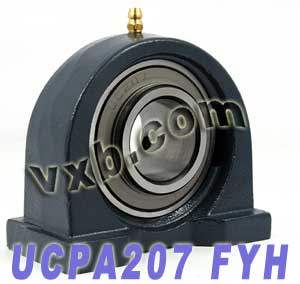 35mm Mounted Bearing UCPA207 + Pillow Block Cast Housing:vxb:Ball Bearing