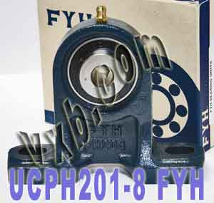 "1/2"" Mounted Bearing UCPH201-8 + Pillow Block Cast Housing:vxb:Ball Bearing"