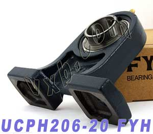 "1-1/4"" Mounted Bearing UCPH206-20 + Pillow Block Cast Housing:vxb:Ball Bearing"